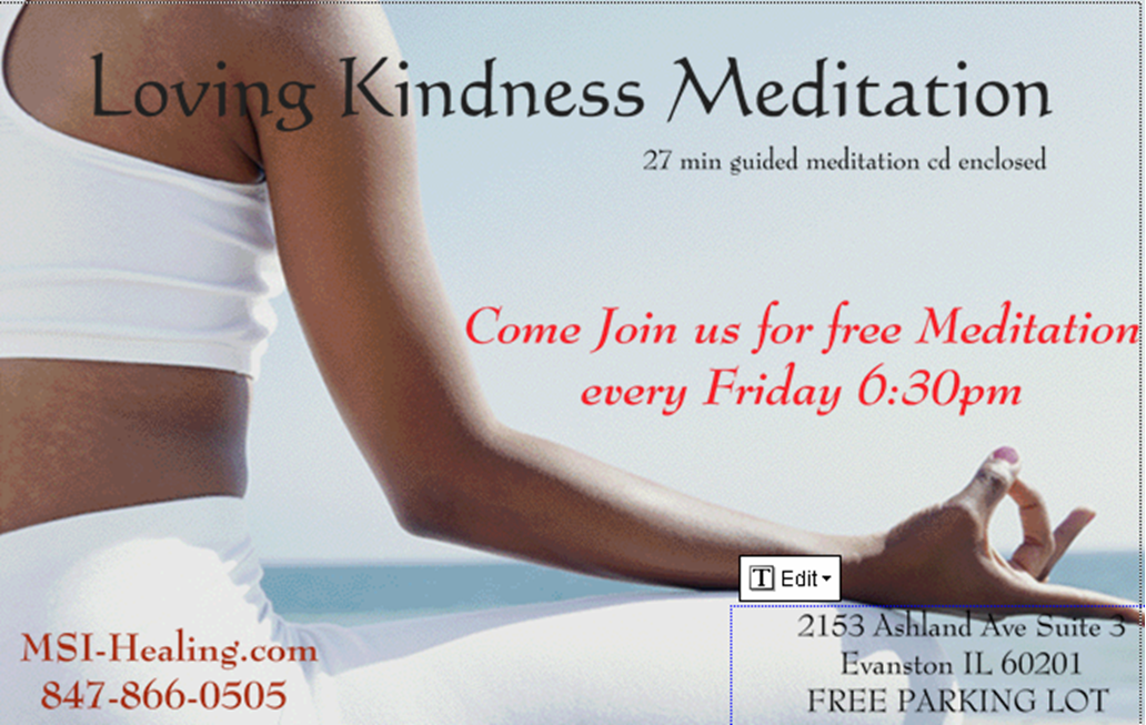 Free Meditation Evanston Friday's 6:30pm
